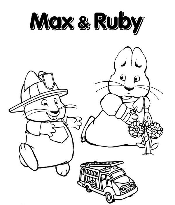Max And Ruby Coloring Pages Cartoon Coloring Pages Super