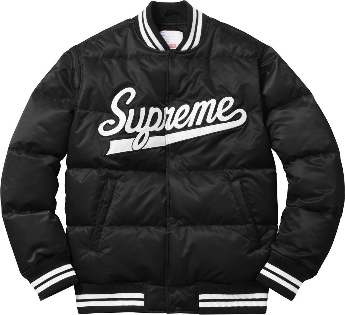 Supreme Old English Coaches Jacket Puffy jacket, Varsity