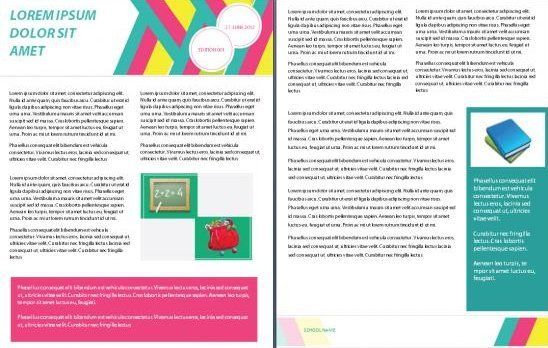 School and Academic Word Newsletter Templates newsletter