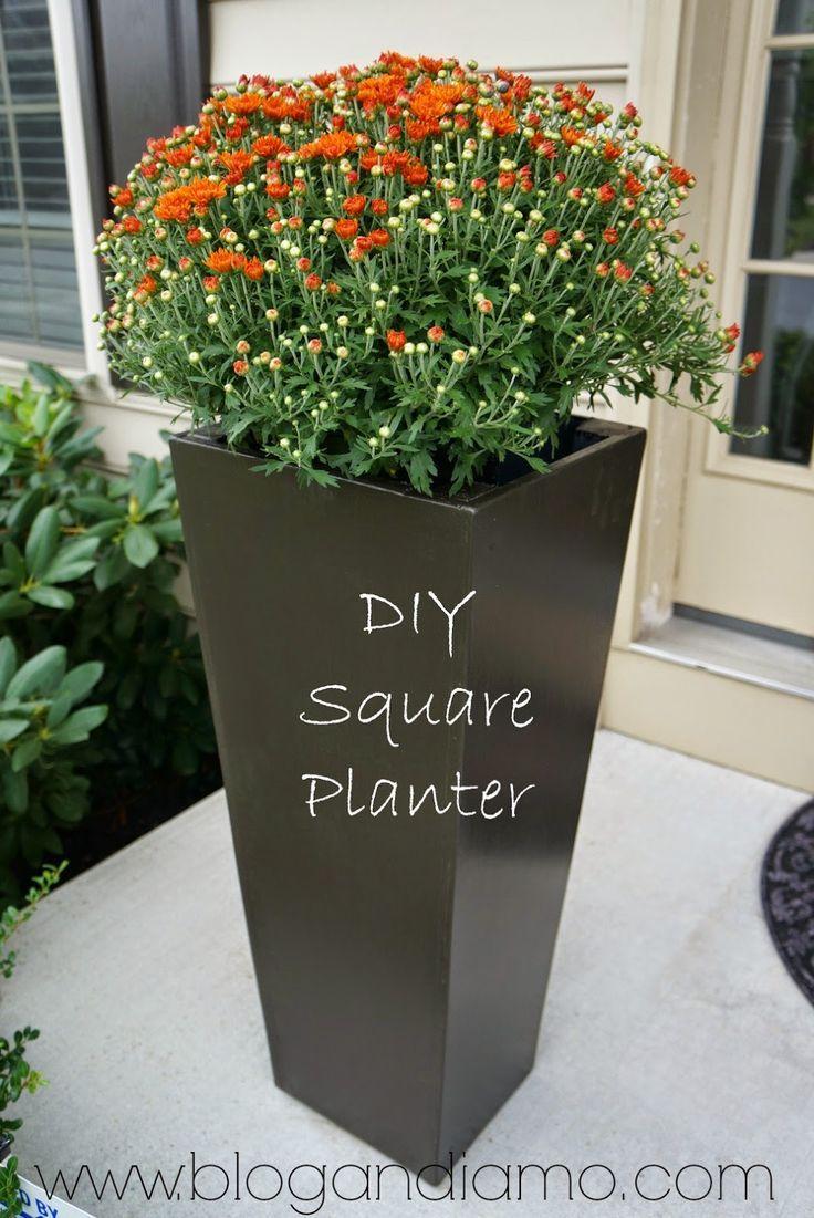 Amazing ANDIAMO: Tall Square Planters | A Diy Tale