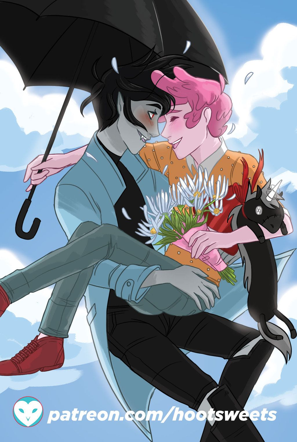 A Prince Gumball/ Marshall Lee (Adventure Time) Comic Part