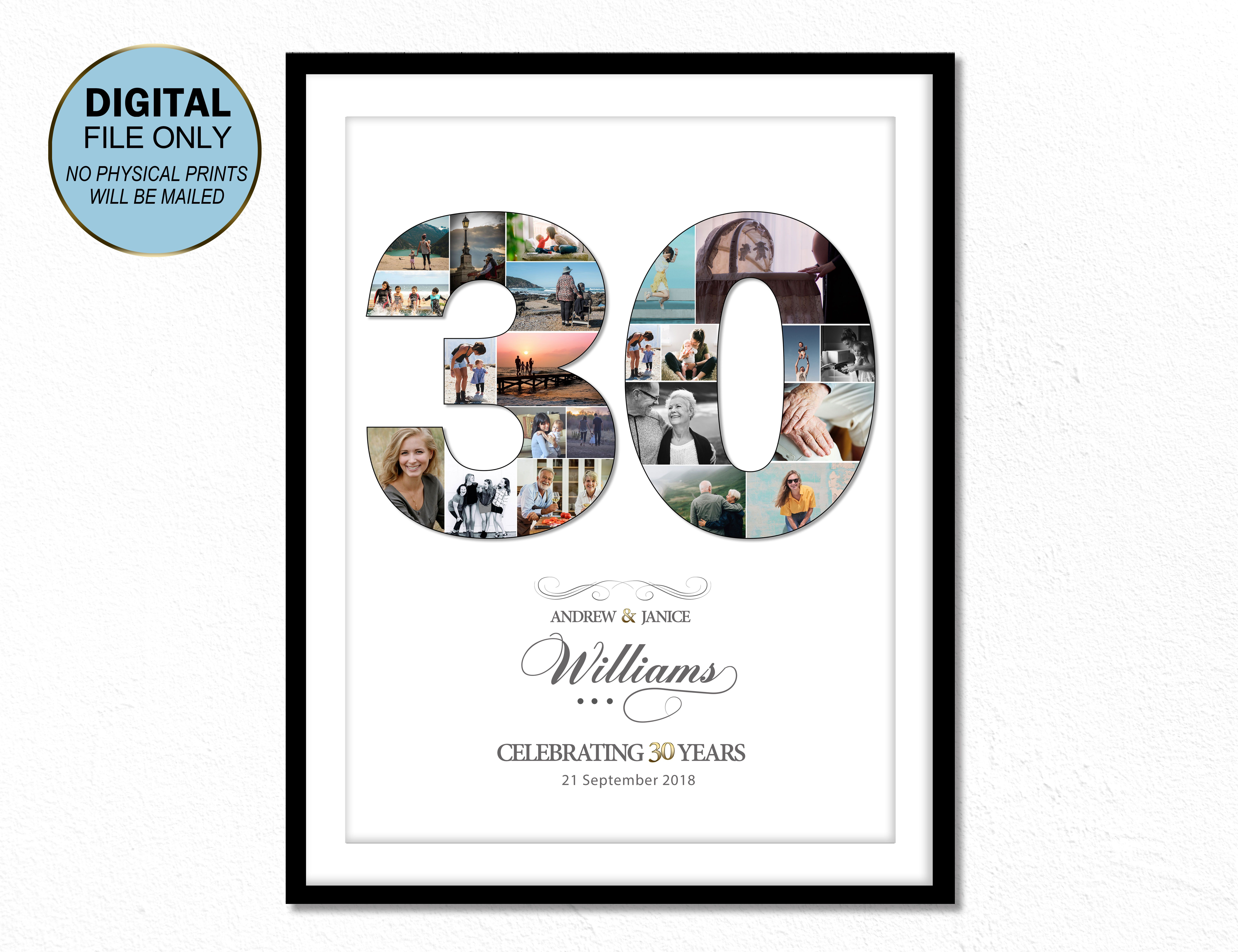 30 Wedding Anniversary Gift Married 30 Years 30th Anniversary Gift For Wife 30th Anniversary Gift For Husband 30 Anniversary Parents 30th Wedding Anniversary Gift Anniversary Gifts For Husband 30th Anniversary Gifts For Parents