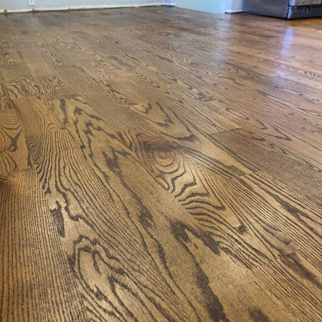 5 inch red oak new install sand on site and finished with ...