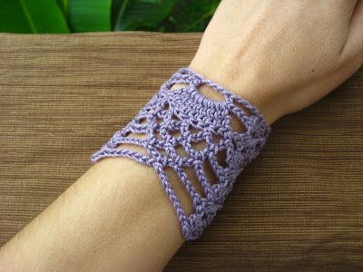 Crochet By Sia Pineapple Wrist Cuff 1 Share Your Craft