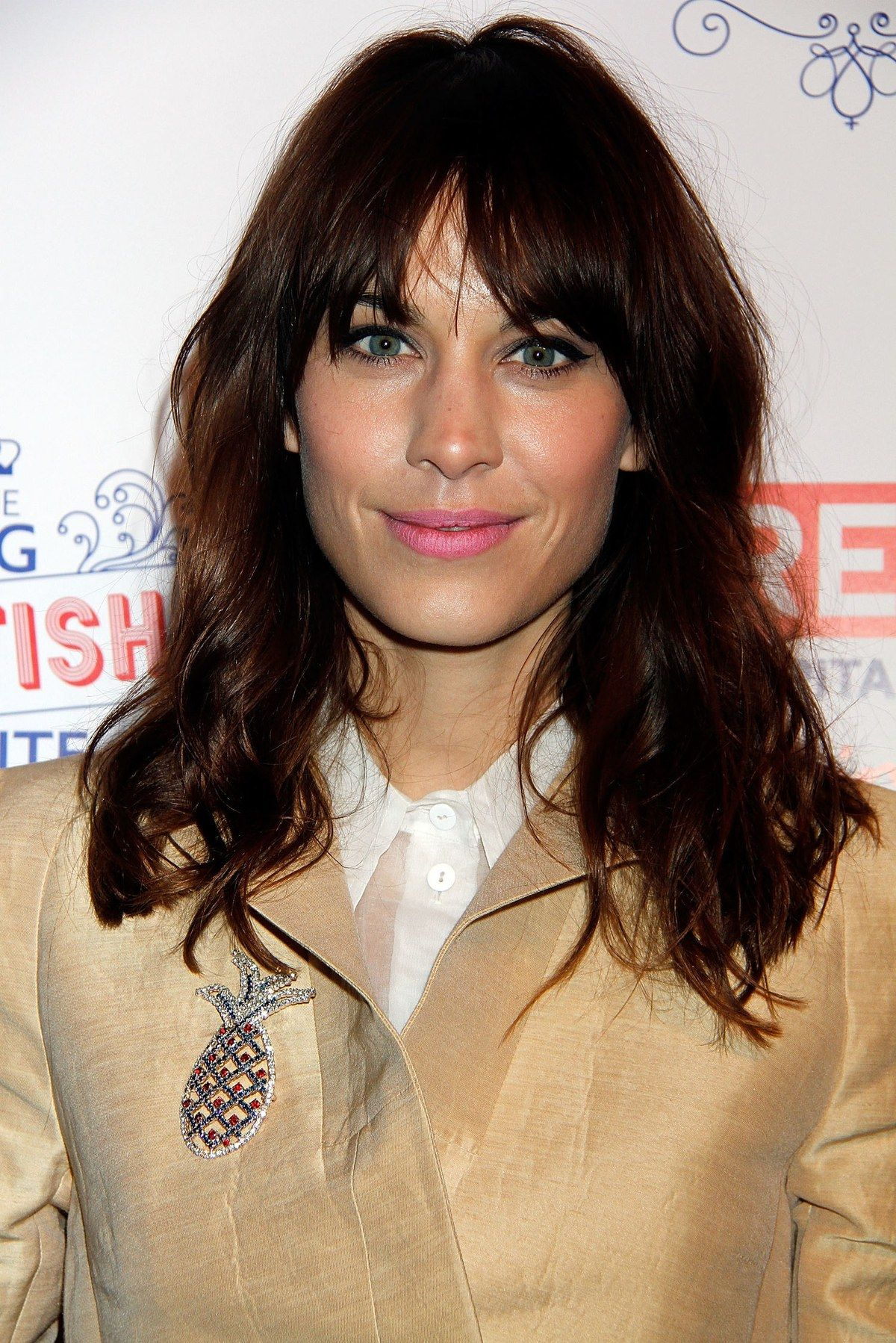 Alexa Chung proves that bangs don t need to be styled perfectly to