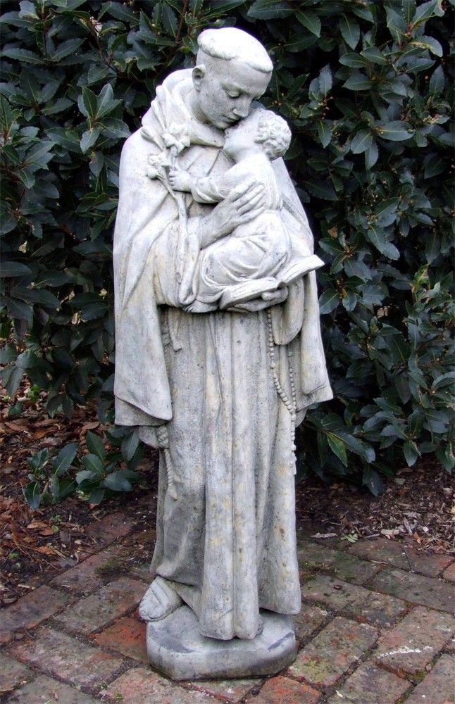 Saint Anthony Stone Sculpture Large Garden Statue. Buy Now At Http://www