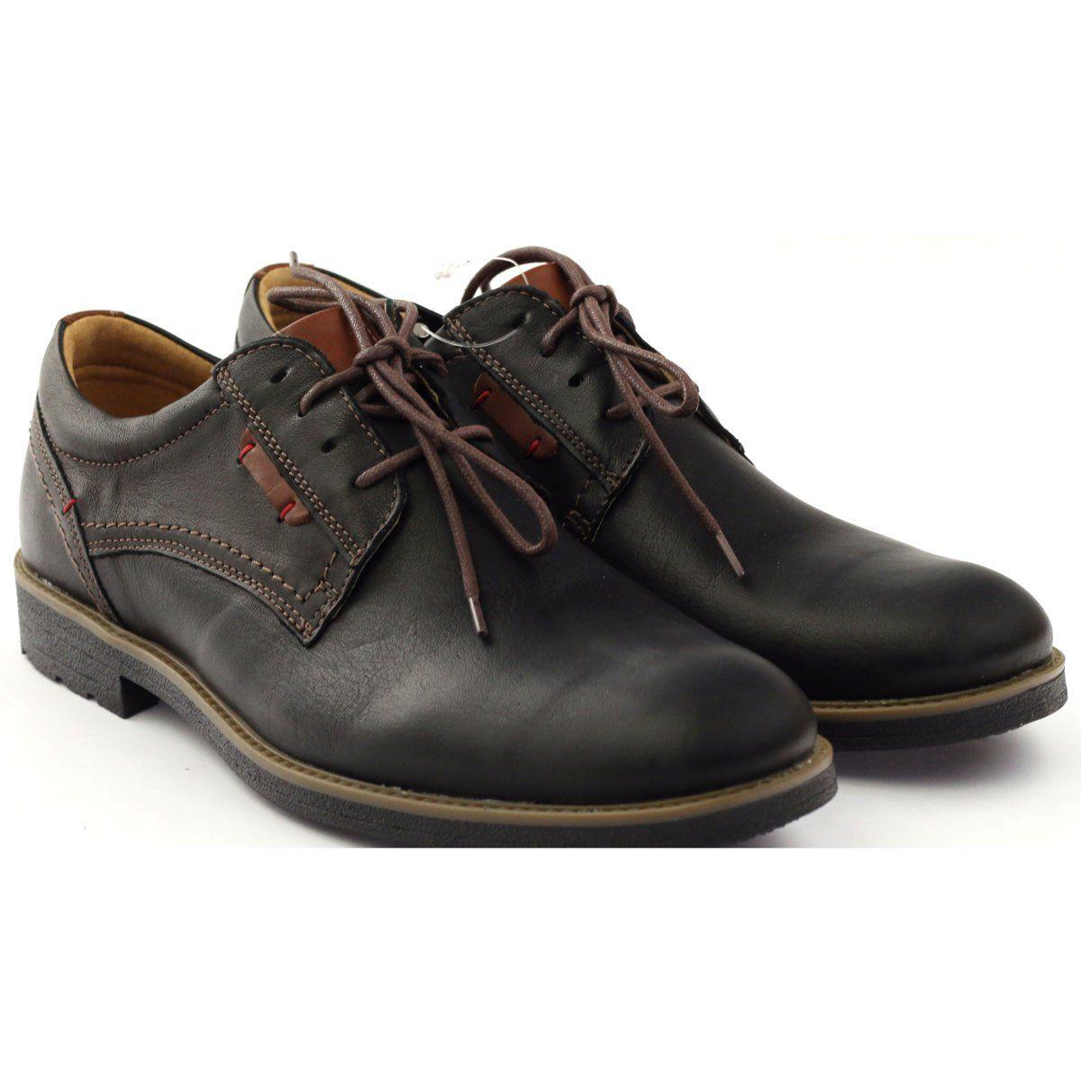 Riko Buty Meskie Polbuty Wiazane 823 Czarne Brazowe Dress Shoes Men Shoes Mens Oxford Shoes
