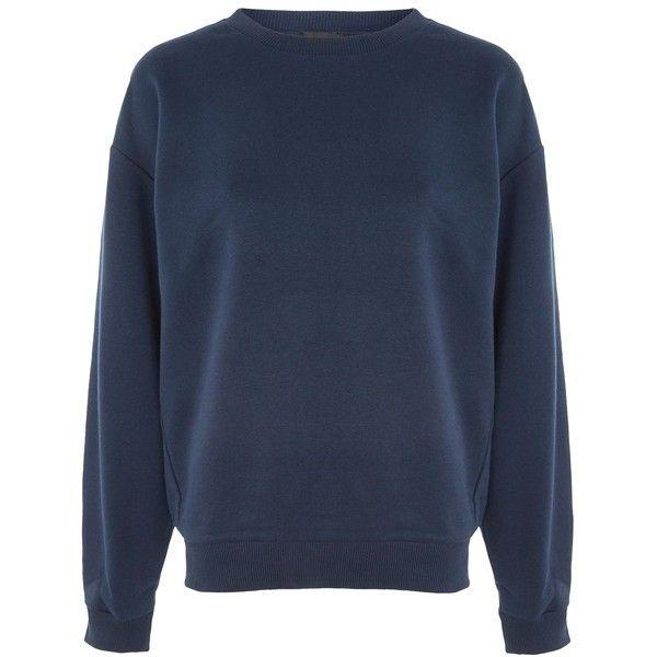 Oversized Cotton Sweatshirt In Blue