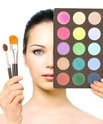 Brushes, colors and makeup