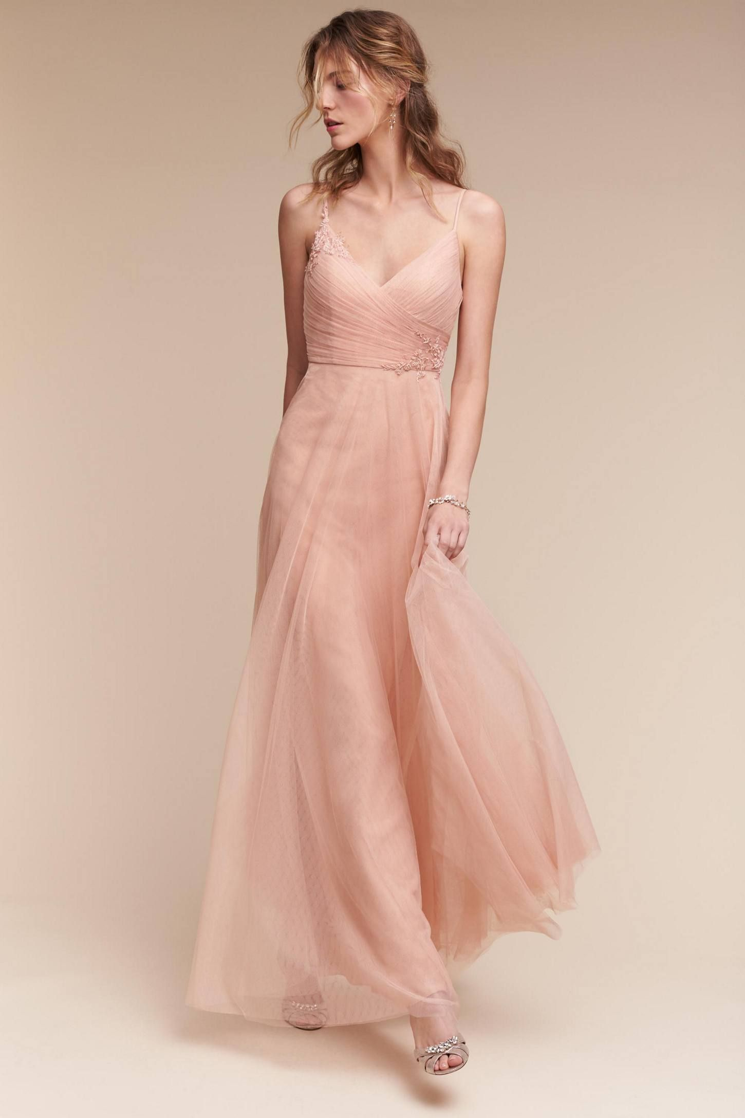 Shop The Brielle Dress And More Anthropologie At Anthropologie Today Read Customer Reviews Discover Cocktail Dress Wedding Long Bridesmaid Dresses Blush Gown