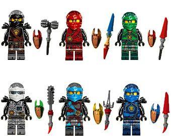ninjago nouvelle saison mini figures nya jay kai cole lloyd zane sadapte tous les jeux de lego lgo pinterest - Lego Ninjago Nouvelle Saison
