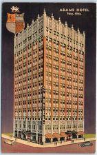 Tulsa, Oklahoma Postcard ADAMS HOTEL Street View Curteich Linen c1940s Unused