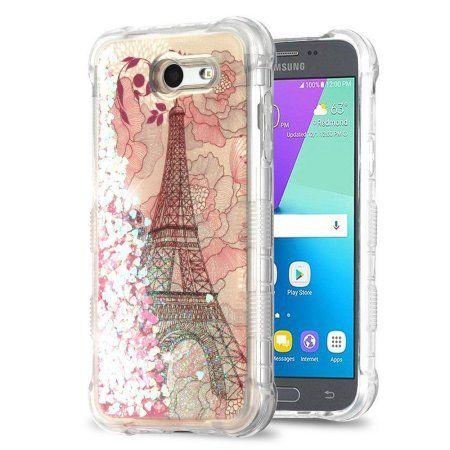 online store ce99f 543eb Galaxy J3 Luna Pro case by Insten Tuff Quicksand Glitter Eiffel ...