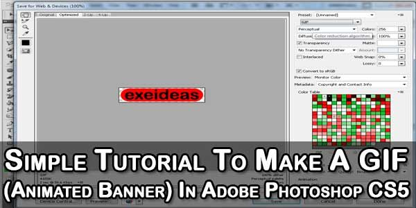 Animated Gif Banner Photoshop Tutorial