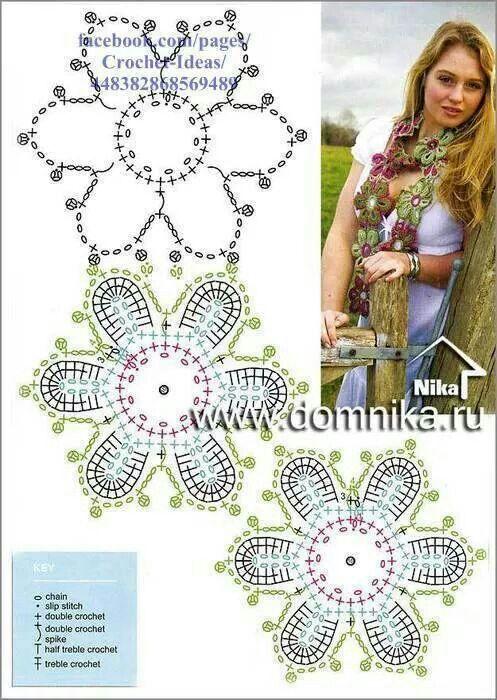 Cachecol lindo - . | ATKI-BOYUNLUK ŞAL | Pinterest | Croché ...