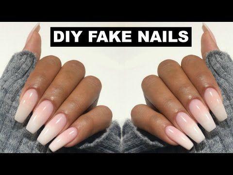 Diy Professional Coffin Nails 9 Long Lasting How To Coffin Shape Nails Youtube Fake Nails Diy Diy Acrylic Nails Acrylic Nails At Home