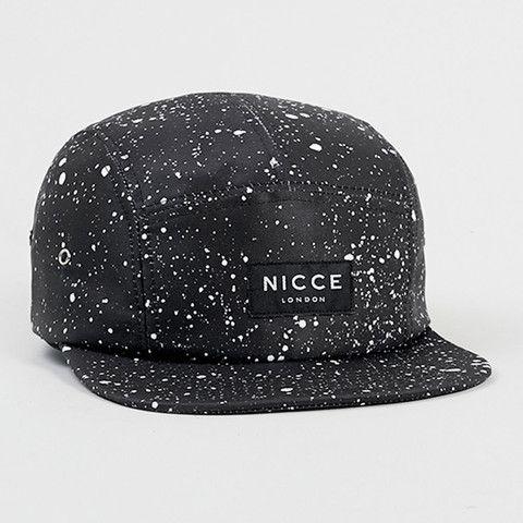BLACK SPECKLE 5-PANEL CAP/BLACK   Nicce London