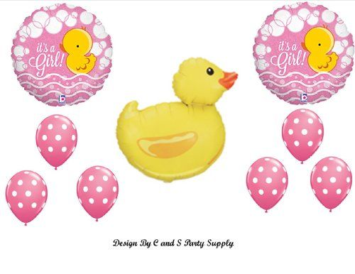 IT'S A GIRL RUBBER DUCKY BABY SHOWER Balloons Decorations Supplies Duck Anagram http://www.amazon.com/dp/B00HL19U3O/ref=cm_sw_r_pi_dp_TOr4tb1PM1V05