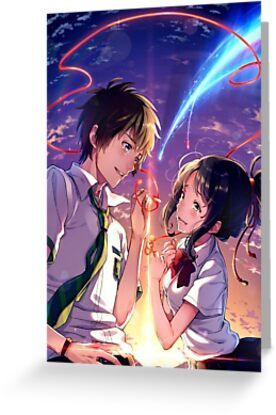 Your Name Kimi No Na Wa Greeting Card & Postcard by FronkHaseng