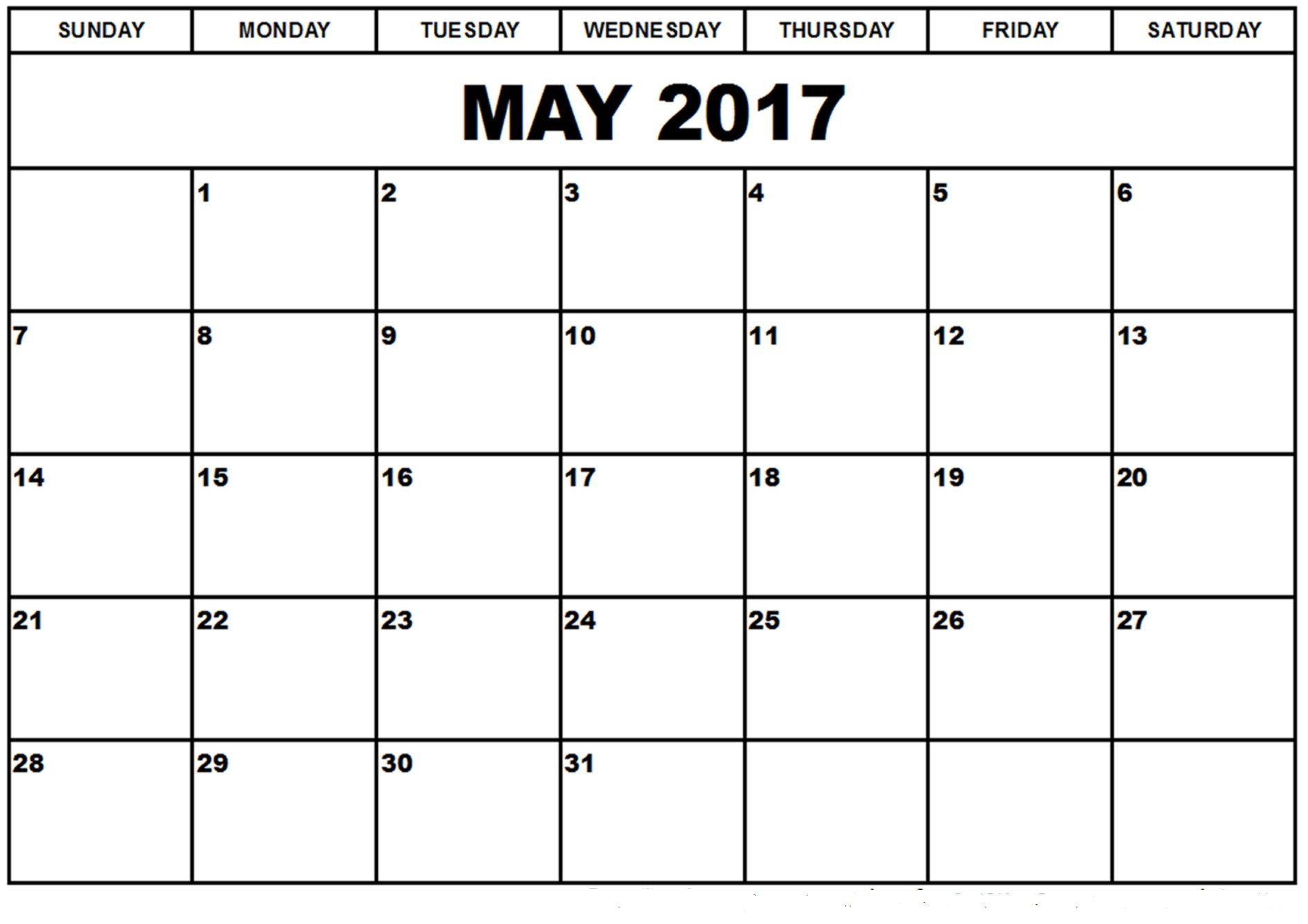 May 2017 Printable Calendar May 2017 Calendar Dekorasyon Cerceve