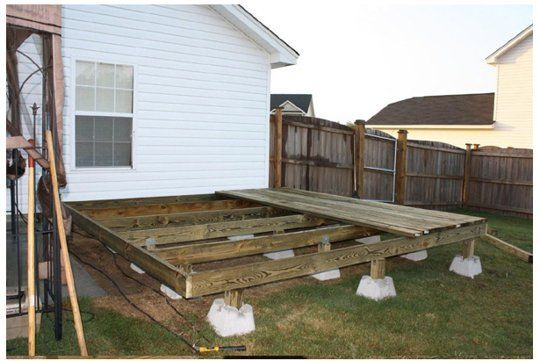 No Dig Deck Using Dek Block Piers Building A Diy