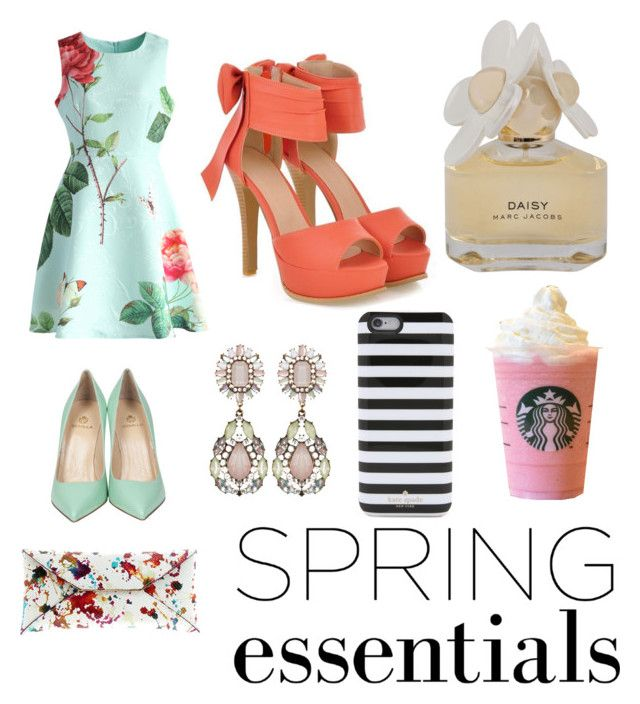 """spring esstentials"" by kellysiahalim on Polyvore featuring Chicwish, Semilla, VBH, Marc by Marc Jacobs, JY Shoes and Kate Spade"