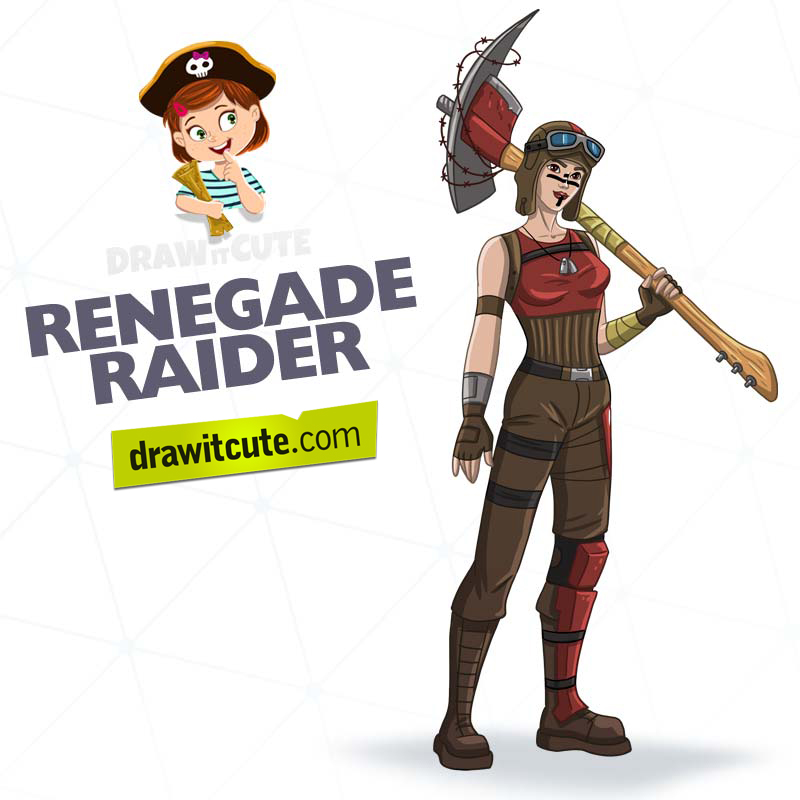 How To Draw Renegade Raider Fortnite By Drawitcute On