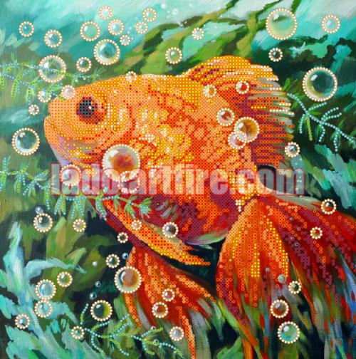 #Goldfish DIY #bead_embroidery_kit beaded painting beading needlework