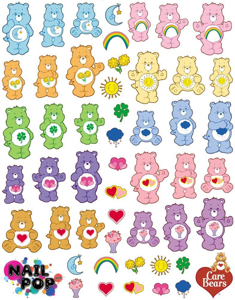 Image of Care Bears X Nail Pop Water Slide Decals สติกเก