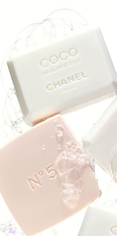 ♔ Chanel Soap Love the simple elegant look of these soaps. Want to put these on my bathroom counter!