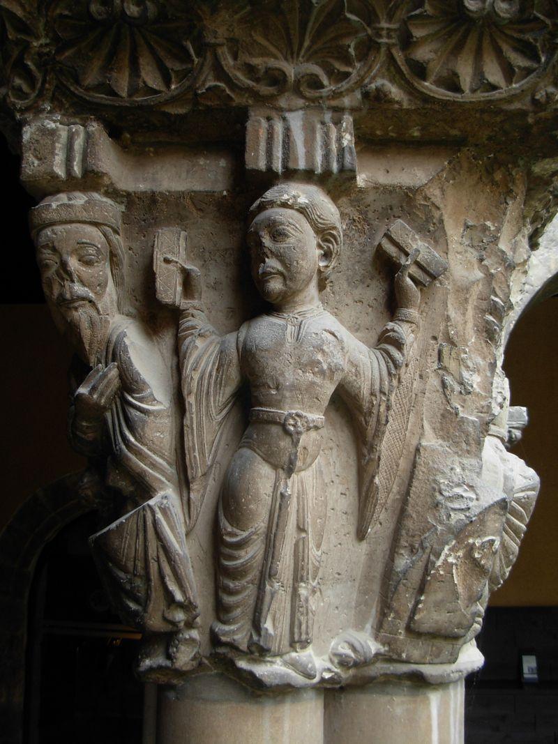 Capitel romanico de la Catedral de Tudela,España,siglo XII