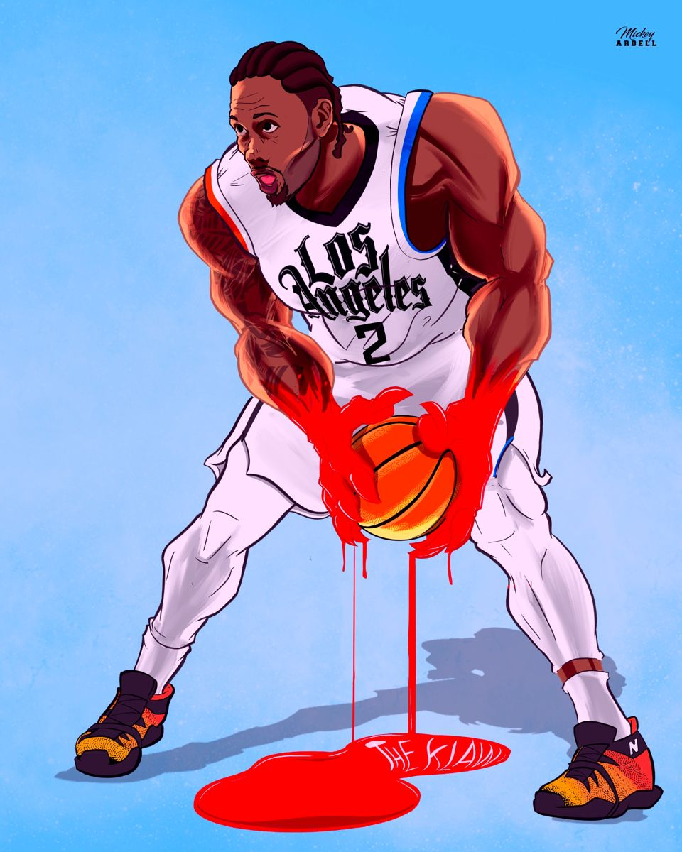 Kawhi Leonard Los Angeles Clippers Nba Mickey Nba Art