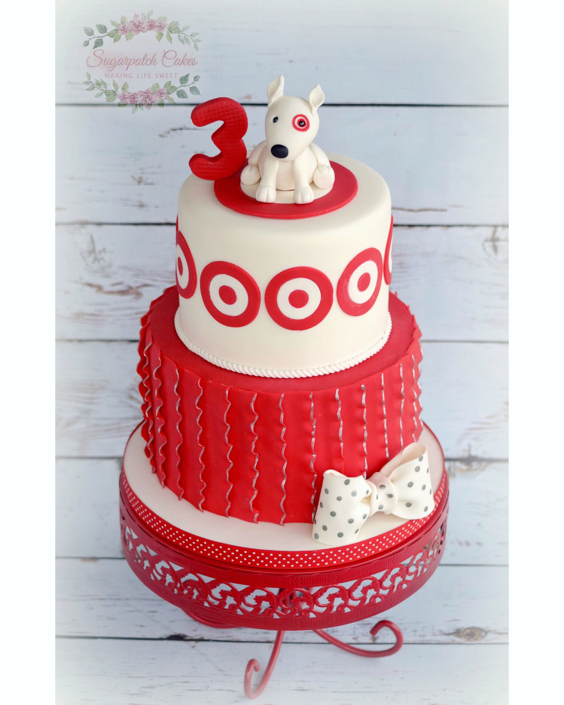 Terrific Birthday Cake With Target And Bullseye Theme Fondant Dog Funny Birthday Cards Online Aboleapandamsfinfo