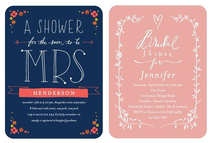 zillions of cute bridal shower invitations from wedding paper divas glamour grace
