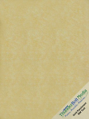 50 Gold Parchment Stationery 60lb Text Weight 85 X 11 Inches Paper ...
