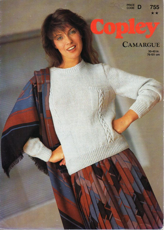 ladies knitting pattern pdf ladies sweater knitting pattern womens ...