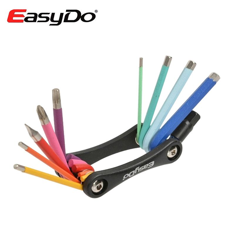 Easydo Rainbow Road Mountain Bike Repair Tools Kits Hexagon 10
