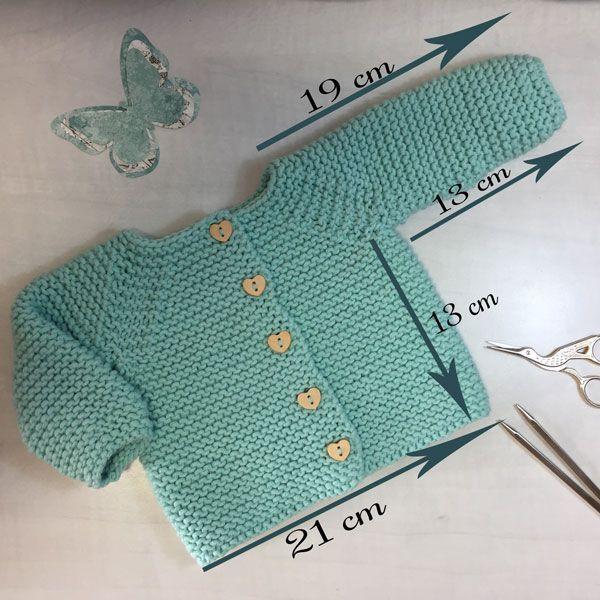Patrón y tutorial de chaqueta de punto para bebé paso a paso ...