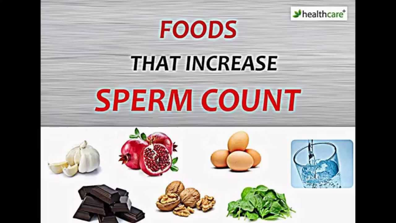 With you foods raise sperm count question The