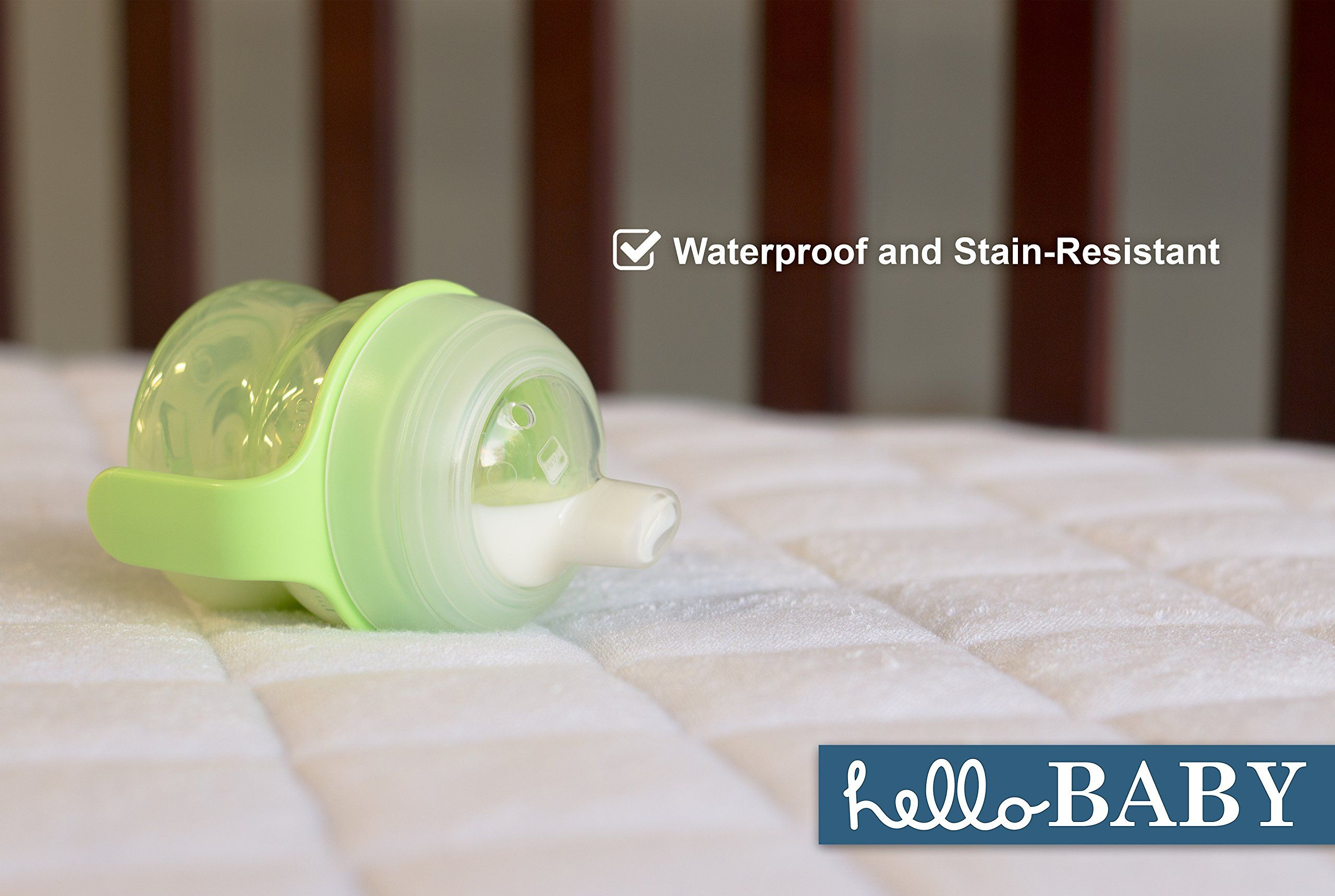 Hello Baby Waterproof Crib Mattress Cover Quilted Ultra