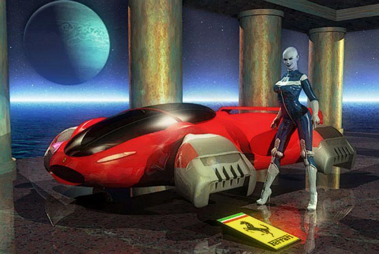 Ferrari Neptune - flying car, art by Luca Oleastri - www.innovari.it #scifi #illustrator