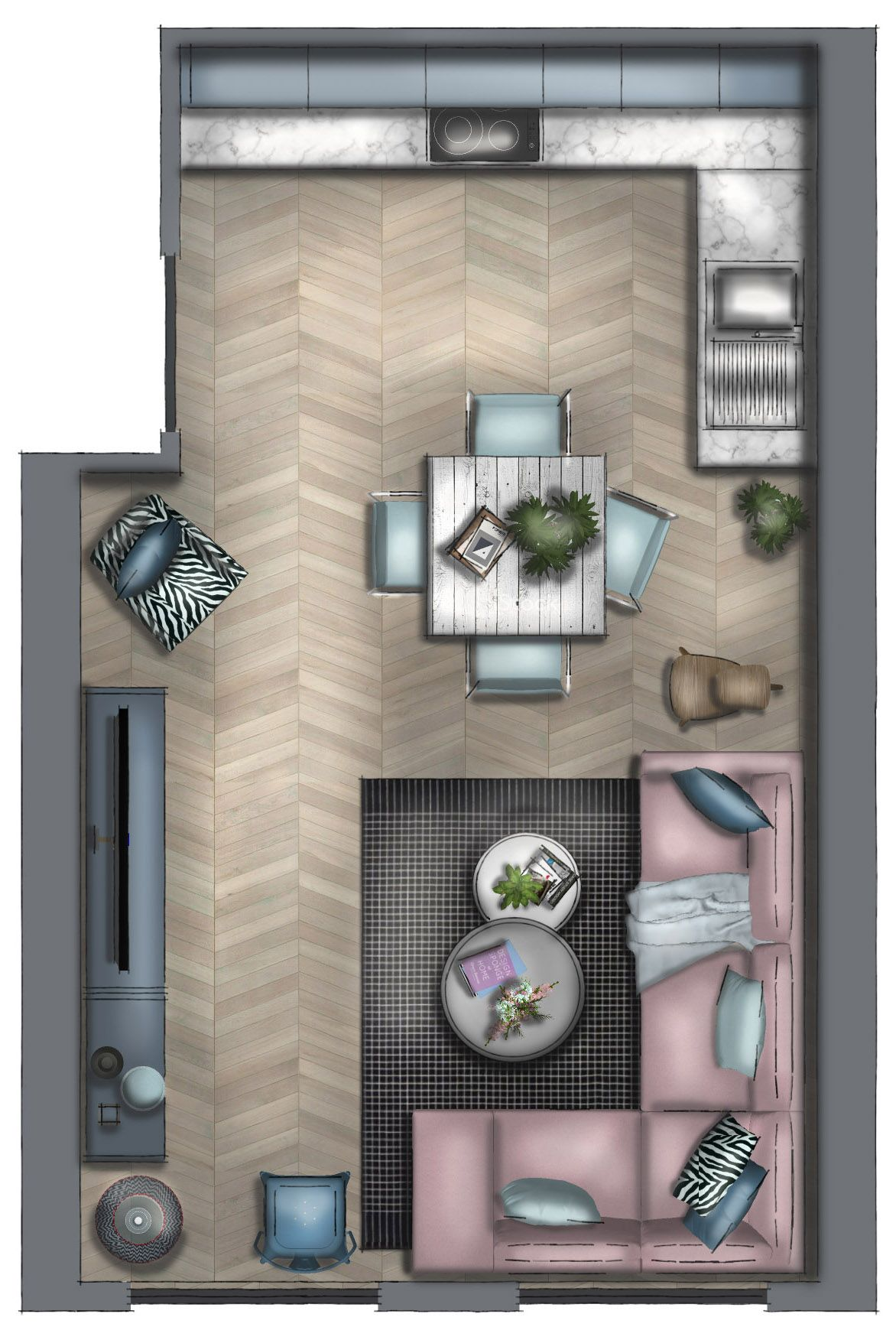 Rendered Floor Plan Interior Design Renderings Rendered Floor