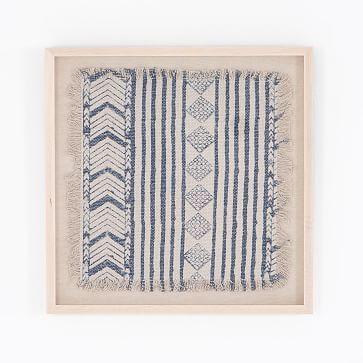 Ida Framed Textile Art In 2020 Textile Wall Art Fabric Wall Art Framed Fabric