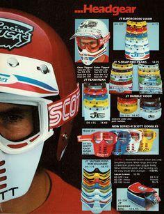 80s Bmx Mask Scott Google Sok Vintage Motocross Vintage