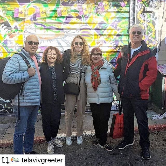 Visitors from Australia with greeters Shulamit and Nachum in the for a in with a . Repost from /te