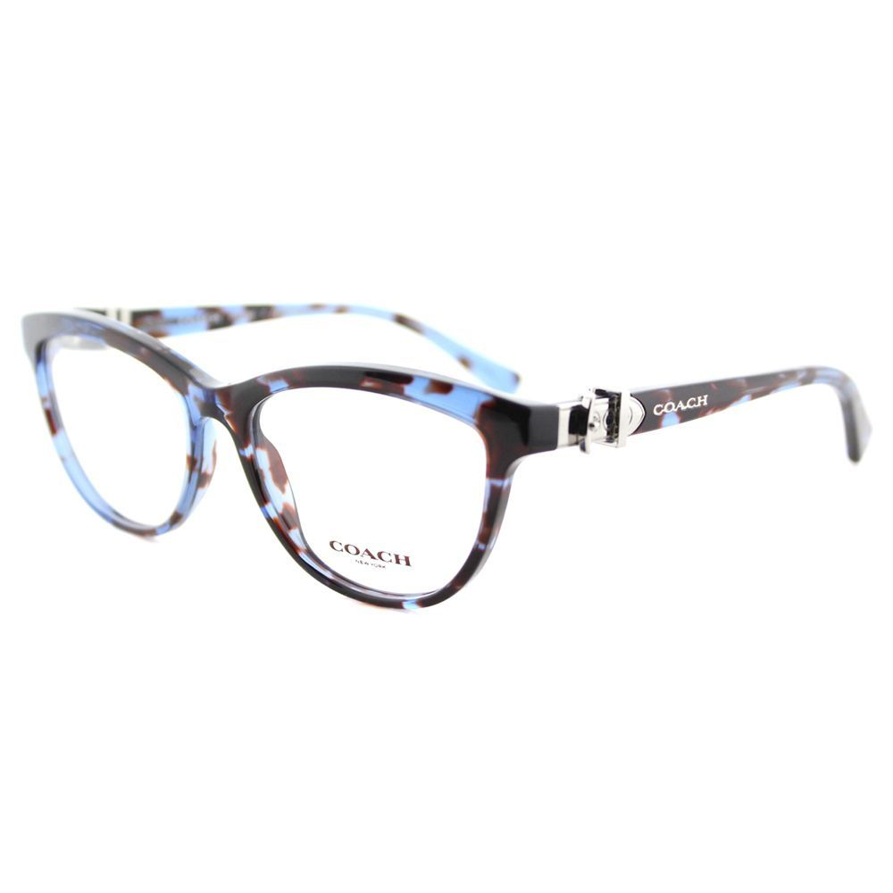 eff2d7a3a1f Coach HC 6087 5392 Blue Tortoise (Green) Plastic Cat-Eye Eyeglasses (Blue  Tortoise)