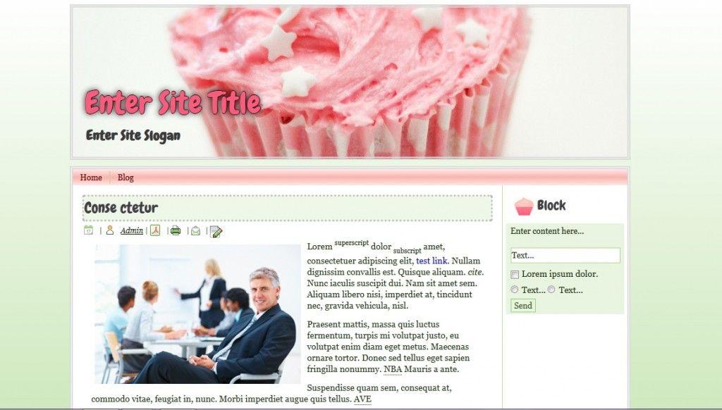 FREE Pink Cupcake WordPress Theme | Free WordPress Themes