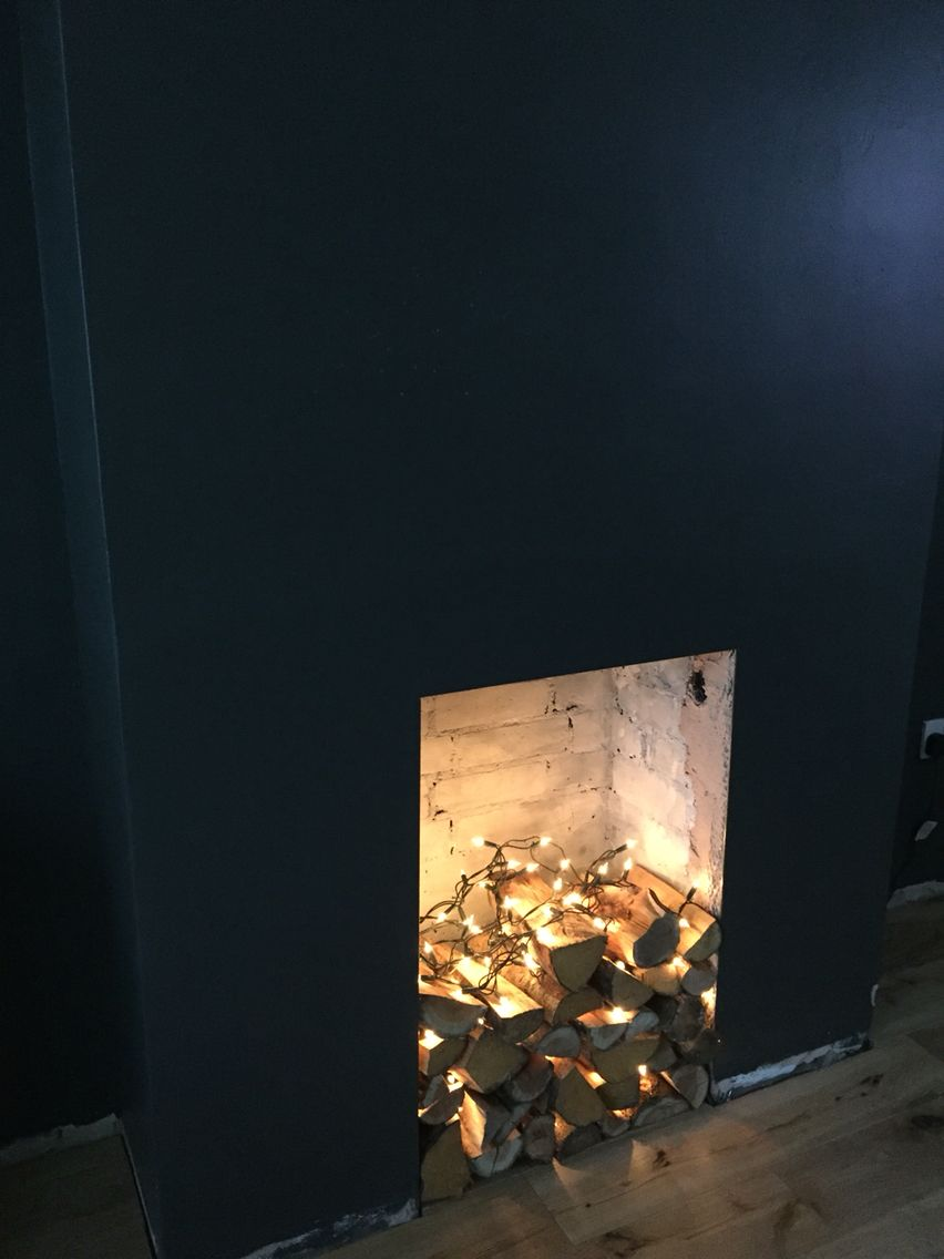 fire logs with fairy lights our new house pinterest