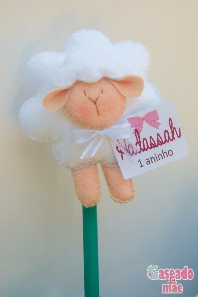 Ponteira para lápis ovelhinha Sheep  www.caseadodemae.blogspot.cm