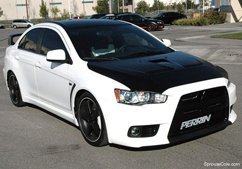 modified lancer evo would have done more work on the color scheme